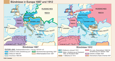 preview one of Bündnisse in Europa 1887 und 1912