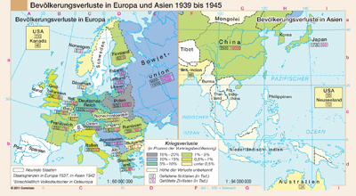 preview one of Bevölkerungsverluste in Europa und Asien 1939 bis 1945